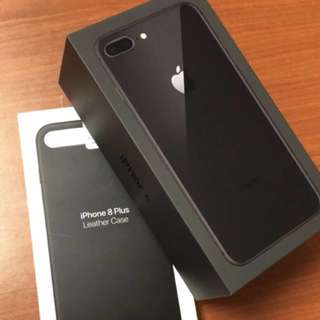 iPhone 8 Plus - 64 GB Space Grey (Free Apple Leather Case)