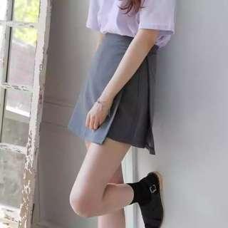 #FreePostage Grey Skort Origami Skirt Shorts