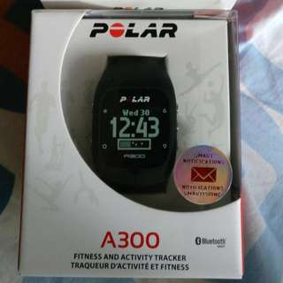 Polar A300 fitness tracker watch and extra yellow Strap