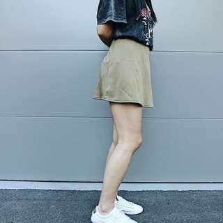 Olive skirt skater style flowy