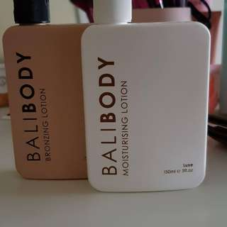 Bali body moisturiser and bronzing lotion