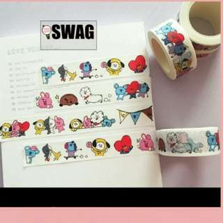 [PO] BTS BT21 WASHI TAPE