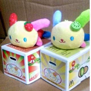 罕有~絕版 麥當勞 Sanrio Usahana 水果公仔 一套2款
