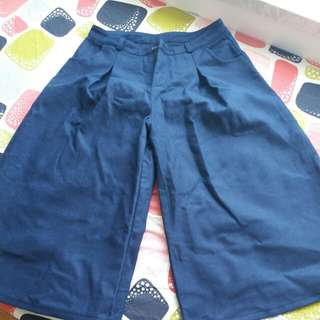 Velvet navy blue square pants(xL)