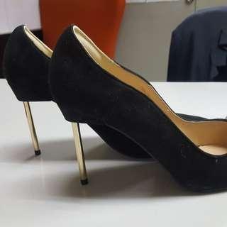 Zalora Black Suede Heels