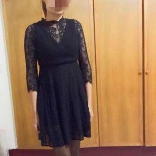 正韓 質感100%蕾絲洋裝