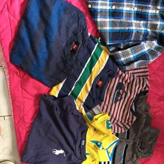 Assorted clothes for kids