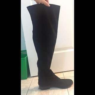Steve Madden Black Thigh High Boots