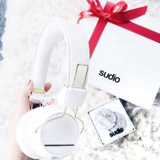 Sudo headphones white and gold