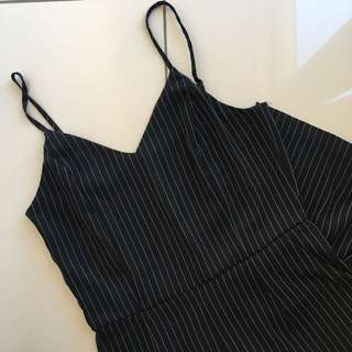 Black Striped Jumpsuit ♡