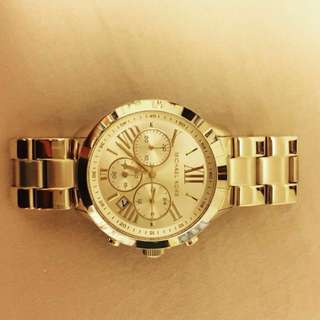 Authentic mk watch gold
