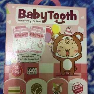 baby tooth breastmilk bag
