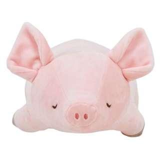 《現貨》趴趴豬 娃娃 柔軟 玩偶 抱枕 填充娃娃 毛絨玩具 生日禮物 豬抱枕 交換禮物