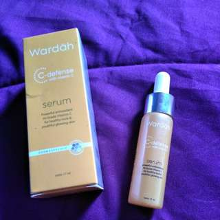 Wardah c-defense serum vitamin c free ongkir