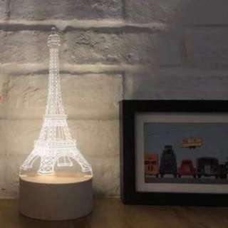 Eiffel Tower night lamp p012 14x14x26