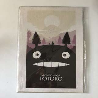 Totoro vintage movie wall poster
