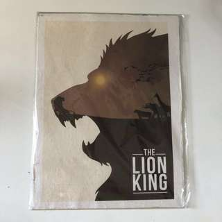 Lion king vintage movie wall poster
