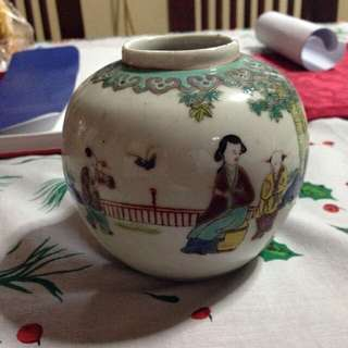 Chinese Transitional Wucai Porcelain Jar 1644 to 1661 china