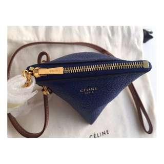 Céline Berlingot Leather Coin Key Purse / Bag Charm