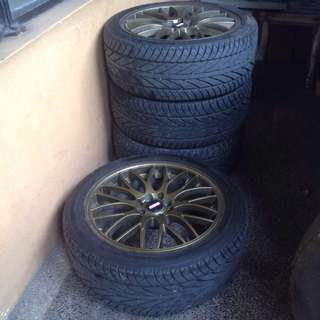 1 set Tires