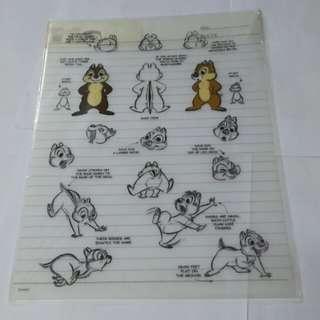 Disney 迪士尼 chip n dale 透明 file 1個
