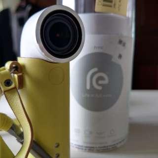 HTC Re 運動相機 146°超廣角 自拍 縮時攝影 贈皮套.記憶卡