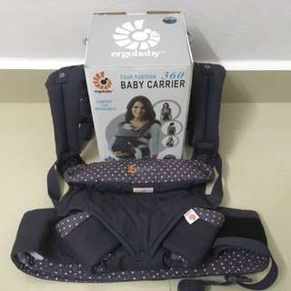 ergobaby 4position Baby Carrier - Face in, out, back and Hip up to 15kg