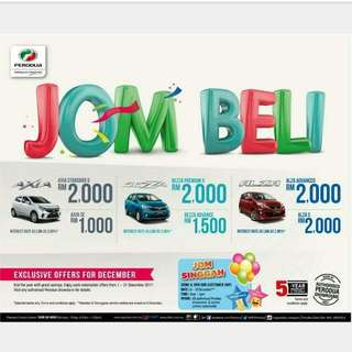 PERODUA END YEAR PROMOTION!