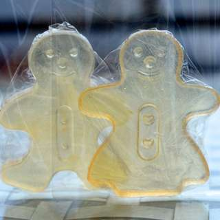 Christmas gift (gingerbread man and woman) soap