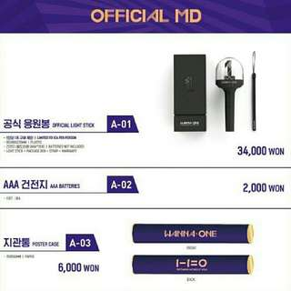 Wanna One Official Goodies