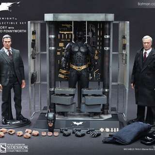 Batman armoury with Bruce Wayne and alfred
