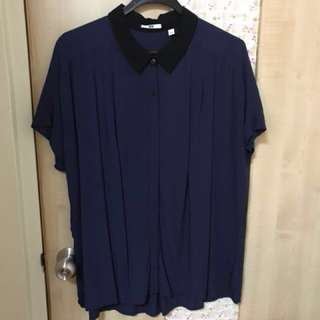 UNIQLO blue black top