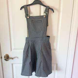 Gingham Pinafore BNWT