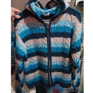 日本漸層毛衣外套