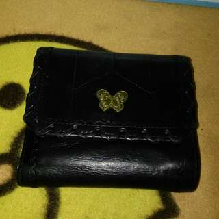 anna sui leather wallet