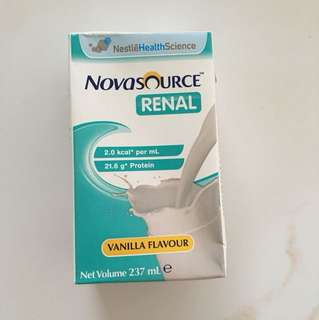 Novasource Renal Vanilla Flavour (237ml x 8 pkts)