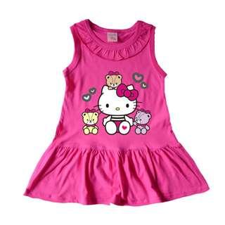 hello kitty girls cotton dress children's cartoon A word skirt baby skirt