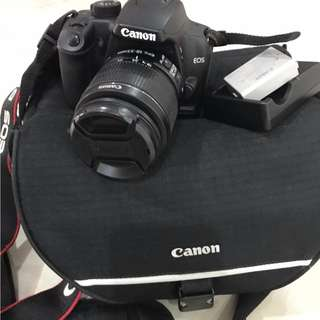 Canon 1000D with 18-55 lens & charger