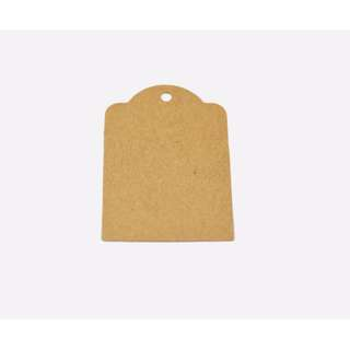 50pcs Kraft Paper Tags Scallop Label with strings  6.5 X 5cm