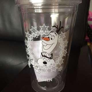 冰雪奇緣雙層冷水杯   雪寶杯