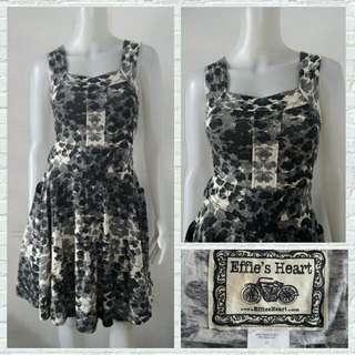 Effie's Heart Gray Printed Dress