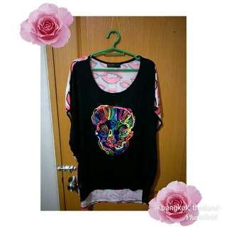blouse skull ( free size )