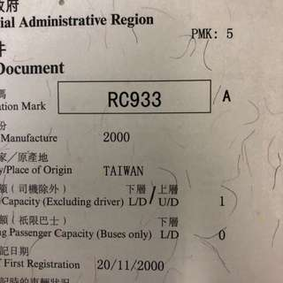 車牌號碼-RC933