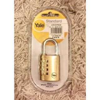 YALE STANDARD 40mm Brass Combination Padlock