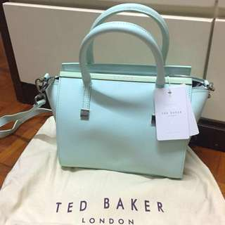 **BRAND NEW Ted Baker Mint Tote** 全新Ted Baker湖水綠手挽側揹袋