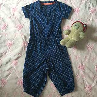 Carter's Jumpsuit (Navy Blue-9 to 12 months)