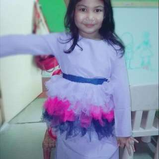 Purple Kurung Tutu For Girl