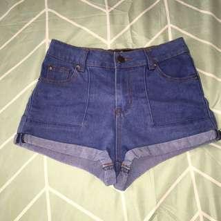 Dark wash Denim Cuff Shorts - Size 8