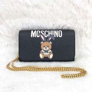 Moschino Playboy Wallet on Chain (黑色)