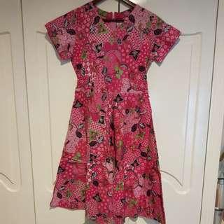 Dress batik pink
